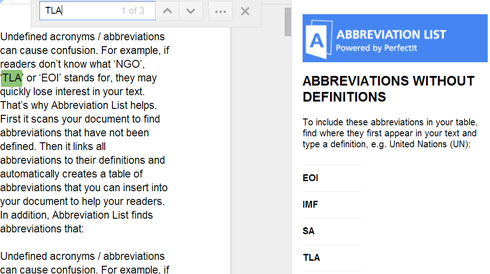 Learn More About Abbreviation List | Intelligent Editing