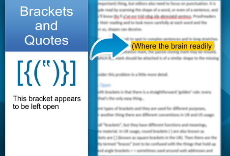 How To Find Brackets And Quotes Left Open Intelligent Editing