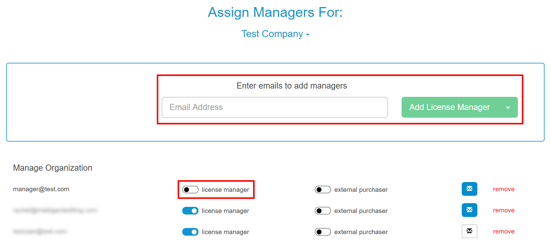 AssignManagers